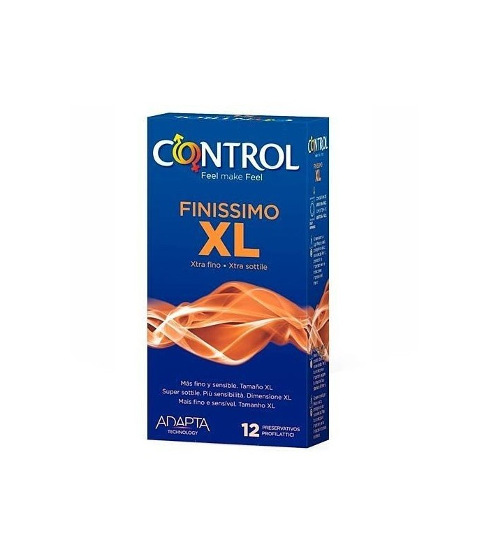 CONTROL FINISSIMO XL PRESERVATIVOS 12 UNIDADES