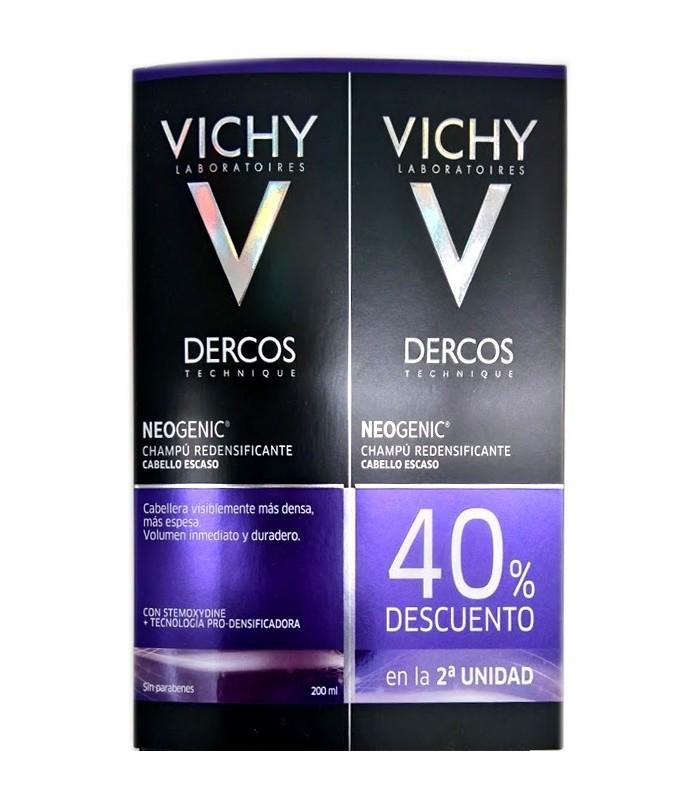 VICHY DERCOS DUPLO CHAMPU NEOGENIC 2X200 ML