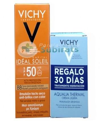 VICHY IDEAL SOLEIL 50 BB CREMA TACTO SECO CON COLOR 50 ML