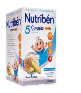 NUTRIBEN 5 CEREALES FIBRA 600GR.