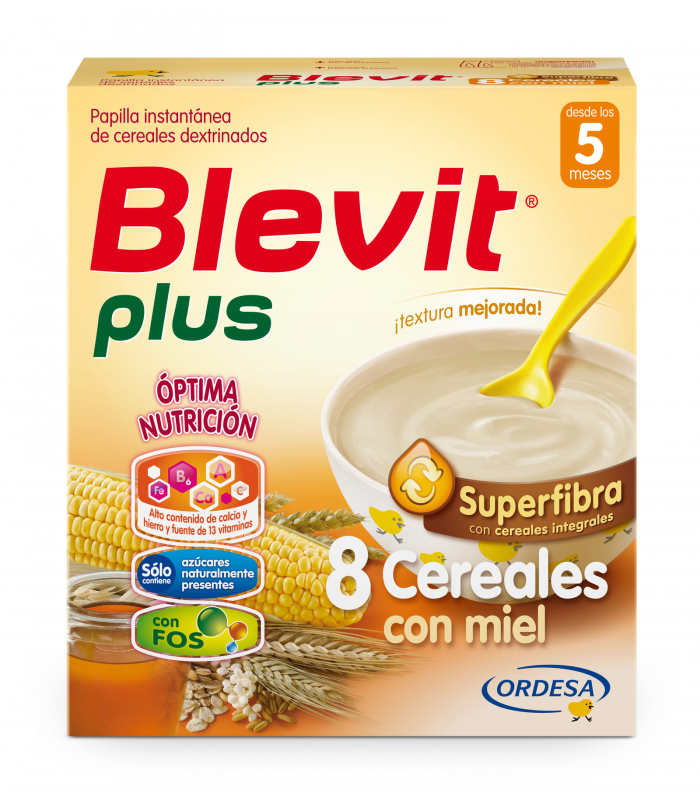 BLEVIT PLUS SUPERFIBRA 8 CEREALES Y MIEL 700 G