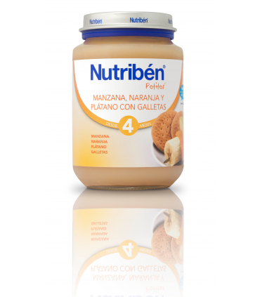 NUTRIBEN JUNIOR MANZANA NARANJA Y PLATANO CON GALLETAS 200 G