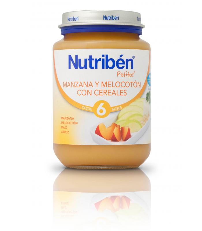 NUTRIBEN JUNIOR MANZANA-MELOCOTON CON CEREALES 200 G