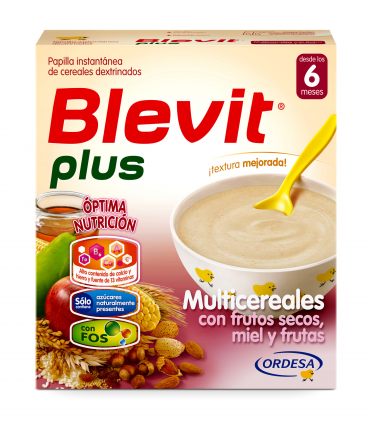 BLEVIT PLUS MULTICEREALES MIEL FRUTOS SECOS Y FR 600 GR