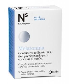 MELATONINA 1,95 MG N+S 30 COMPRIMIDOS MASTICABLES