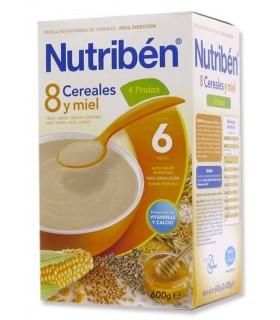 NUTRIBEN PAP 8 CEREALES Y MIEL 4 FRUTAS 600 GR