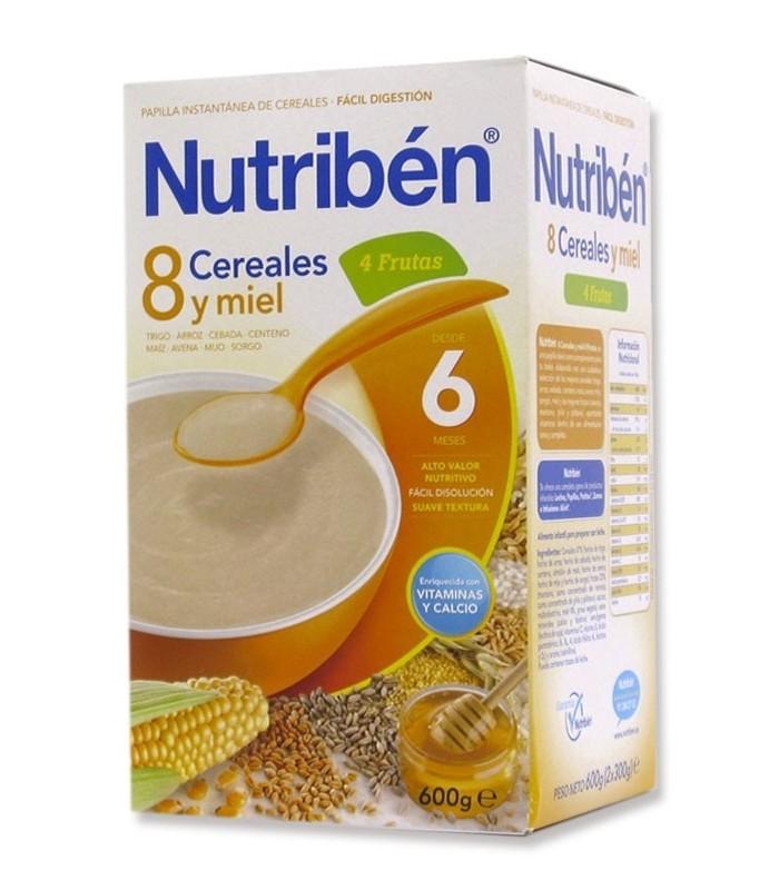 NUTRIBEN PAPILLA 8 CEREALES Y MIEL 4 FRUTAS 600 GR