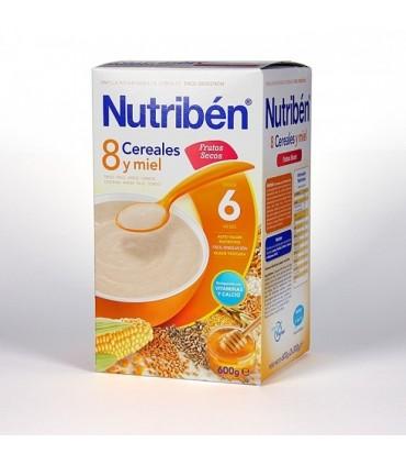 NUTRIBEN PAPILLA 8 CEREALES Y MIEL FRUTOS SECOS 600 G