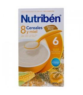 NUTRIBEN PAP 8 CEREALES Y MIEL GALLETAS MARIA 600 G