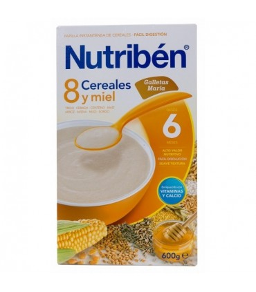 NUTRIBEN PAPILLA 8 CEREALES Y MIEL GALLETAS MARIA 600 G