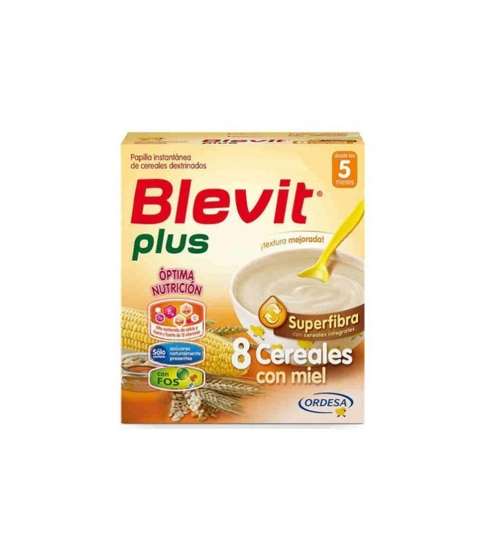 BLEVIT PLUS SUPERFIBRA 8 CEREALES CON MIEL 300 GR