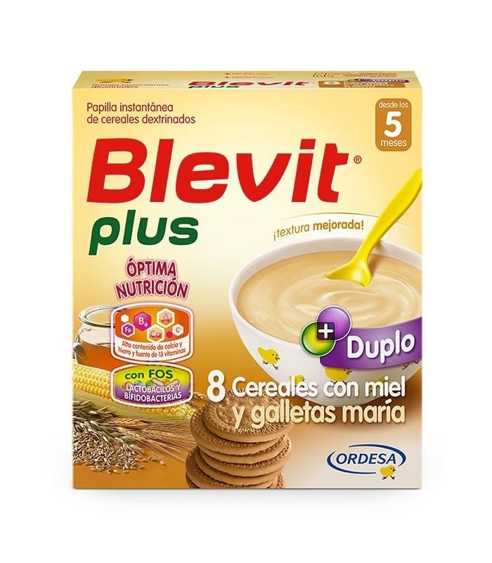 BLEVIT PLUS DUPLO 8 CEREALES CON MIEL Y GALLETAS MARIA 700 GRS